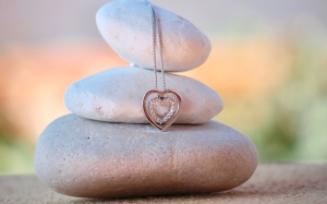heart, jewelry, sea, silver, stones, love, luxury, meditation