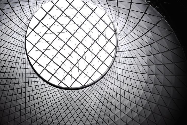 aluminium, bygning, moderne, arkitektur, kunst, geometriske, glas