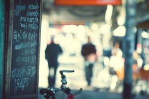 ploča, bicikala, tekst, ulica
