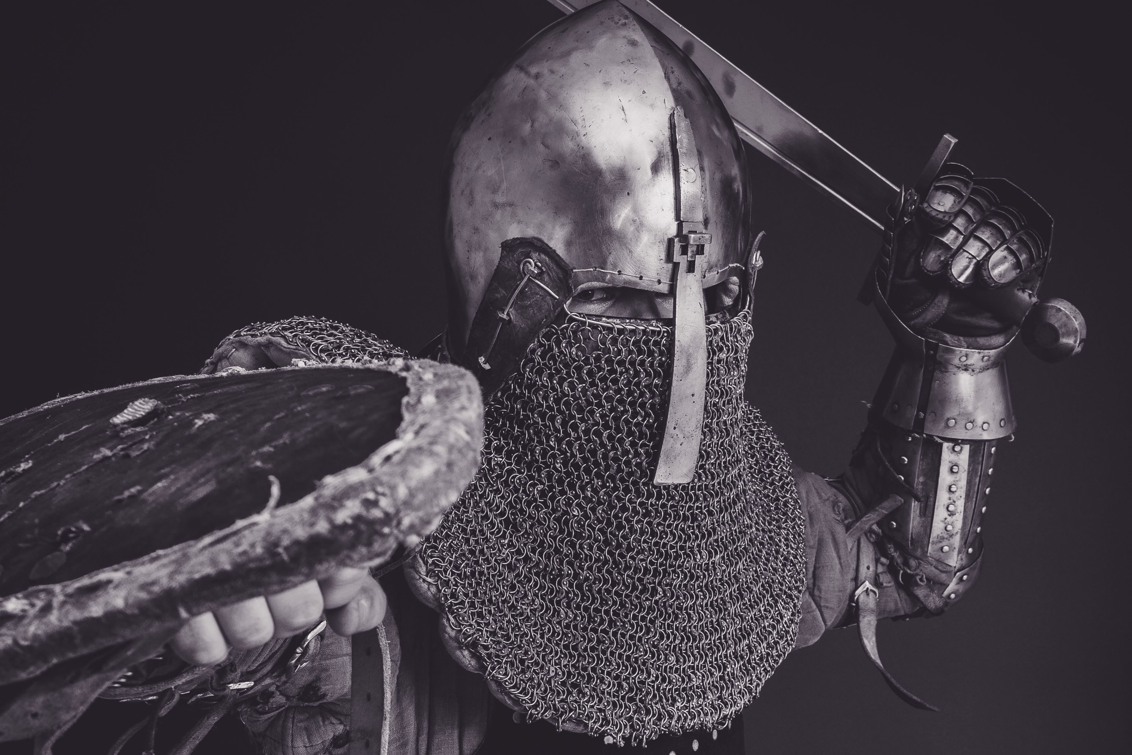 free picture  helmet  man  armor  monochrome  protection