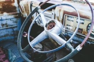 wheel, vehicle, car, old, rusty
