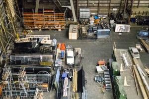 skladište, Otprema, kontejneri, čelik, urbane, vozila