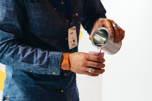 wristwatch, work, cup, man, jeans, fashion