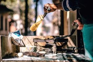 wood, coal, cook, dish, equipment, fire, food
