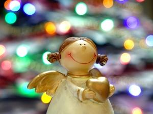 décor, figurine, ornement, ange, art, jouet