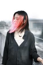 mujer joven, Asia, bello rostro, moda, chica, cabello