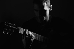 Porträt, Musik, Sänger, Gitarre, Gitarrist, Instrument