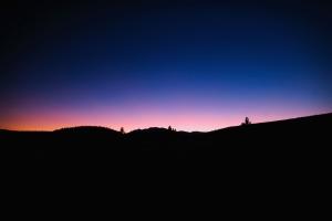 evening, light, nature, silhouette, sky, dusk