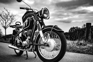 motocykl, road, niebo, street, motocykl