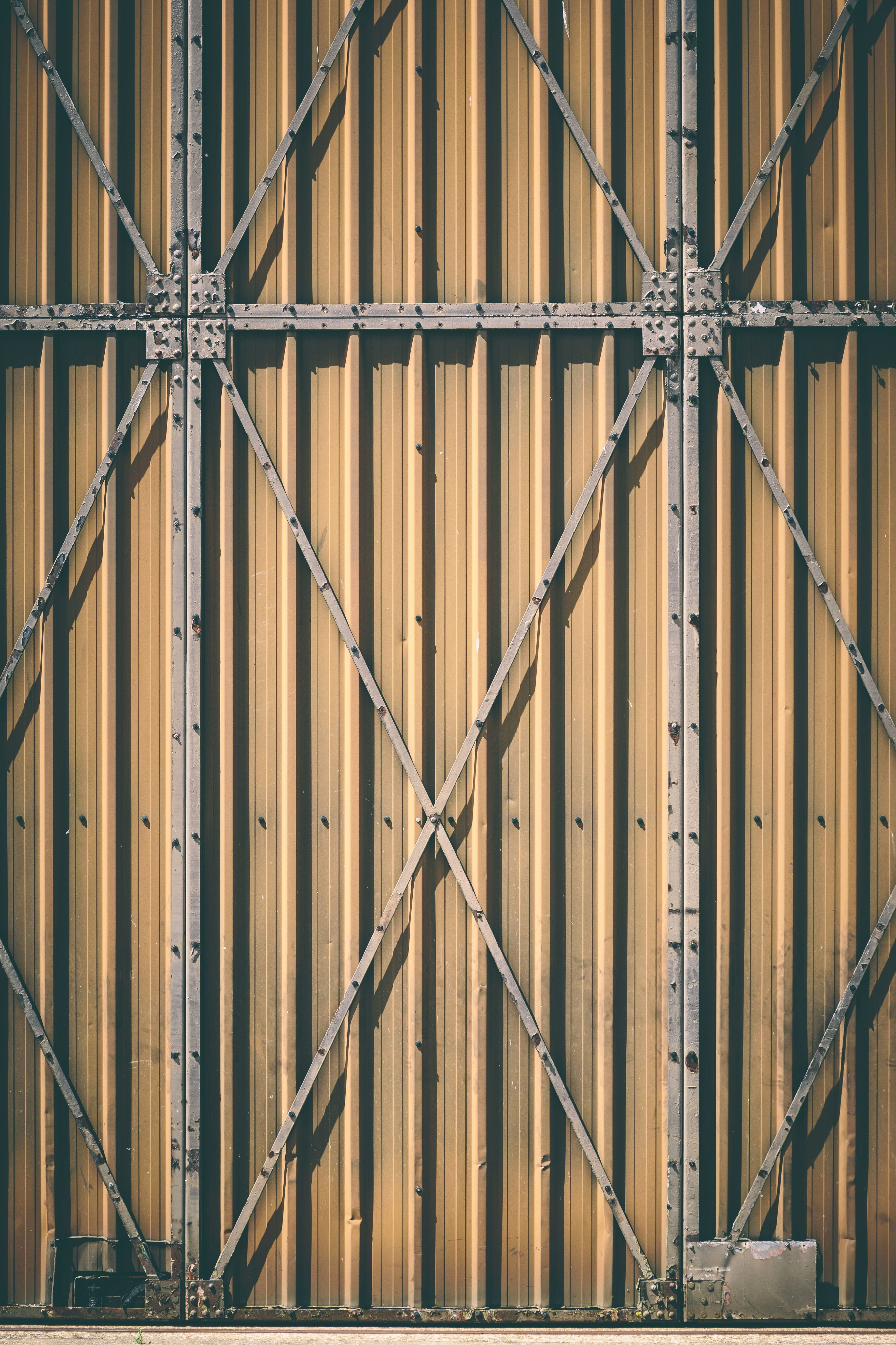 Imagen gratis acero estructura textura pared gris metal puerta