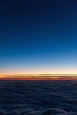 ουρανό, Ανατολή, ηλιοβασίλεμα, σύννεφα, ορίζοντας