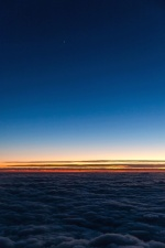 taivas, auringonnousu, auringonlasku, pilvet, horizon