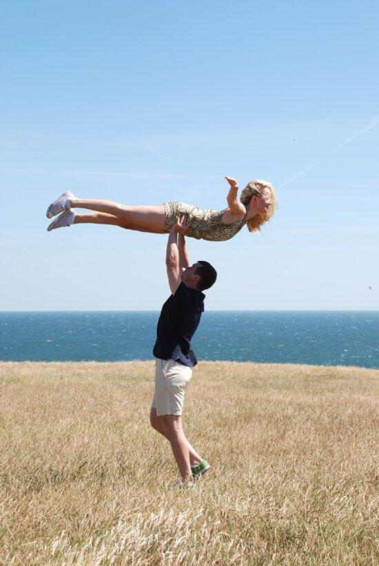 sea, sky, summer, woman, freedom, fun, girl, recreation