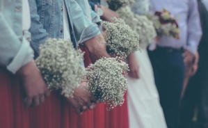 people, wedding, bouquet, women, celebration