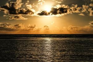 vann, strand, skyer, skumring, seascape, horisonten, vann, hav