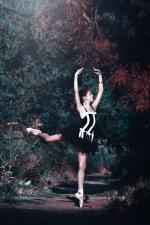 baletti, tanssija, nainen, kaunis, ballerina, metsä, tyttö
