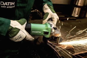 metal, ferramenta, faíscas, aço, trabalho, luvas, moedor, indústria