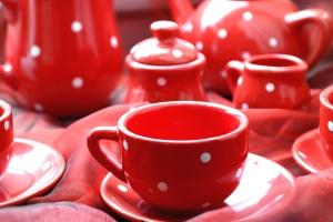 herbata, czajnik, kubek, porcelany, kubek