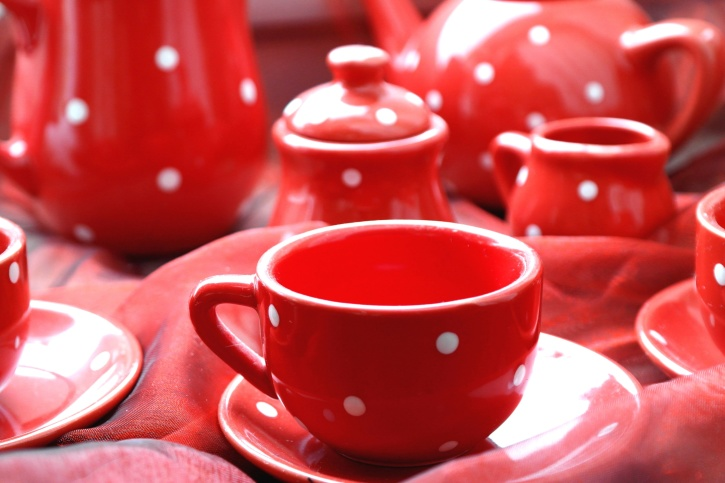 thé, théière, tasse, porcelaine, tasse