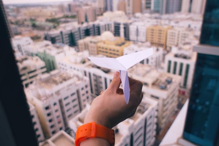 architettura, costruzioni, affari, città, mano, carta