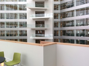 nowoczesny apartament, architektura, balkon, budowa, biura, pokoju