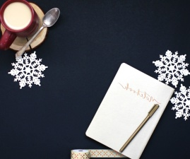 spoon, text, snowflakes, wood, write, paper
