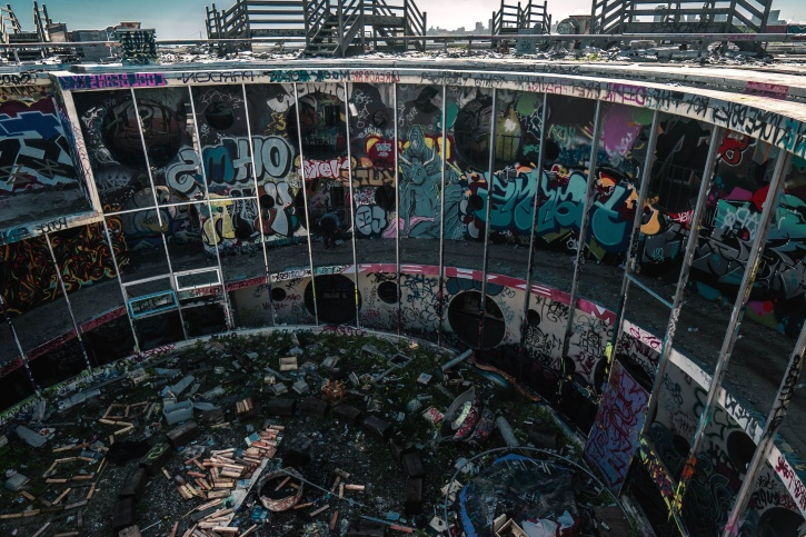 architecture, abandoned, graffiti, building