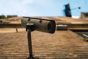 la seguridad, cámara digital, cámara, pared, calle