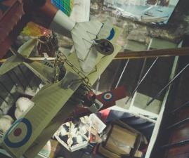 lietadiel, dvojplošník, lietadlo, hračka