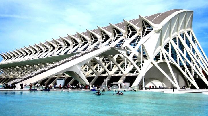 Architektura, sztuka, most, biznes, nowoczesny budynek, miasto