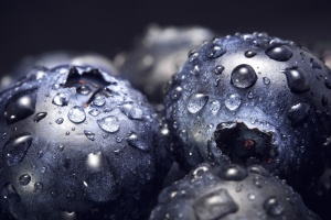 blueberries, sweet, water, wet, berries, water drops, food, fruit