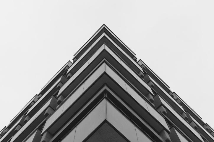 Projektowanie, architektura, budowa, biznes, współczesnej, na zewnątrz, office, fasada