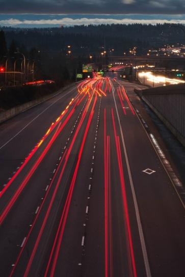 autostrada, auto, buio, viaggi, veicoli, traffico, Trasporto