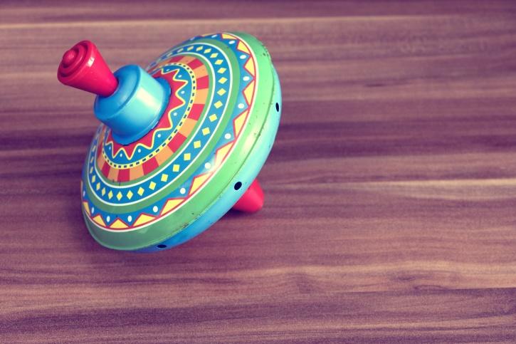 juguete, madera, niñez, colorido, giro