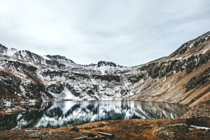 acqua, inverno, freddo, lago, montagna, natura