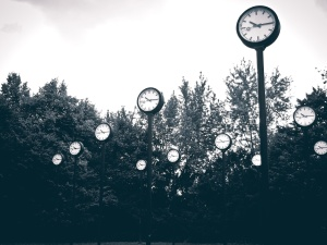 time, street, clocks, art, park