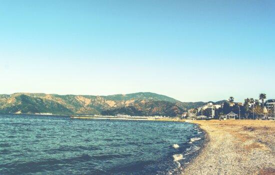 海、山、ビーチ、海岸、夏時間、島