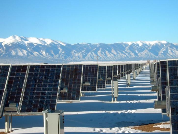 poder, la nieve, la energía solar, paneles, tecnología, invierno