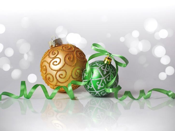 celebración, navidad, bola, oro, día de fiesta, ornamento