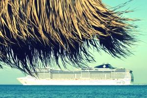 πλοίο, φύλλα, εξωτικά, νησί, φύση, ωκεανό, παραλία, θάλασσα