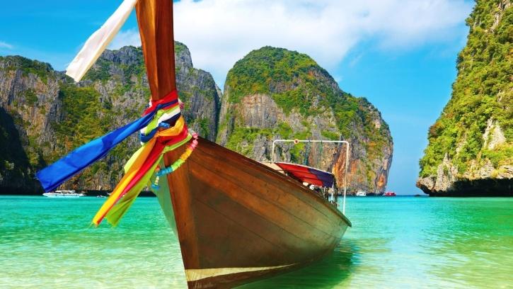 섬, 해변, 보트, 연못, 자연, 태양, 여행, 열 대, 휴가, 물