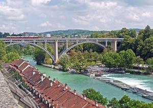 la construcción, la infraestructura, río, agua, arquitectura, puente