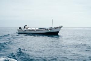ship, ocean, sea, water, boat, man, motorboat
