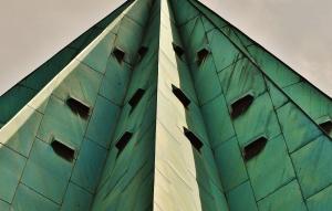 edificio, exterior, arquitectura, ciudad, cielo, pirámide