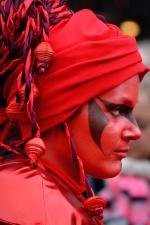 paint, person, portrait, woman, carnival, dress