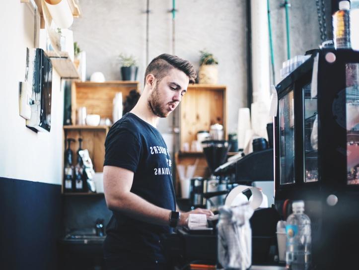 bar Caffee, entreprise, ville, urbain, travail