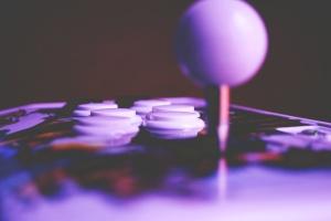 аркадни, контролер, бутони, видеоигри