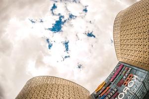 Architektúra, umenie, budovy, Biznis, city, mraky, súčasník, letný