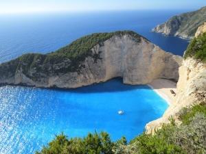 mar, terra, água, céu, praia, Costa, papel de parede