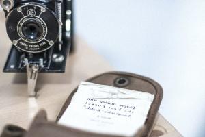 objektiva, fotoaparat, optički uređaj, papir, fotografije, analogni, kamera, starinski, otvor